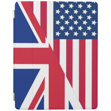 American and Union Jack Flag iPad Cover