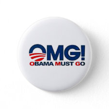 American Born Republic Obama Must Go button