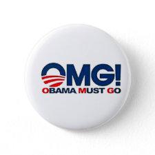 American Born Republic Obama Must Go button