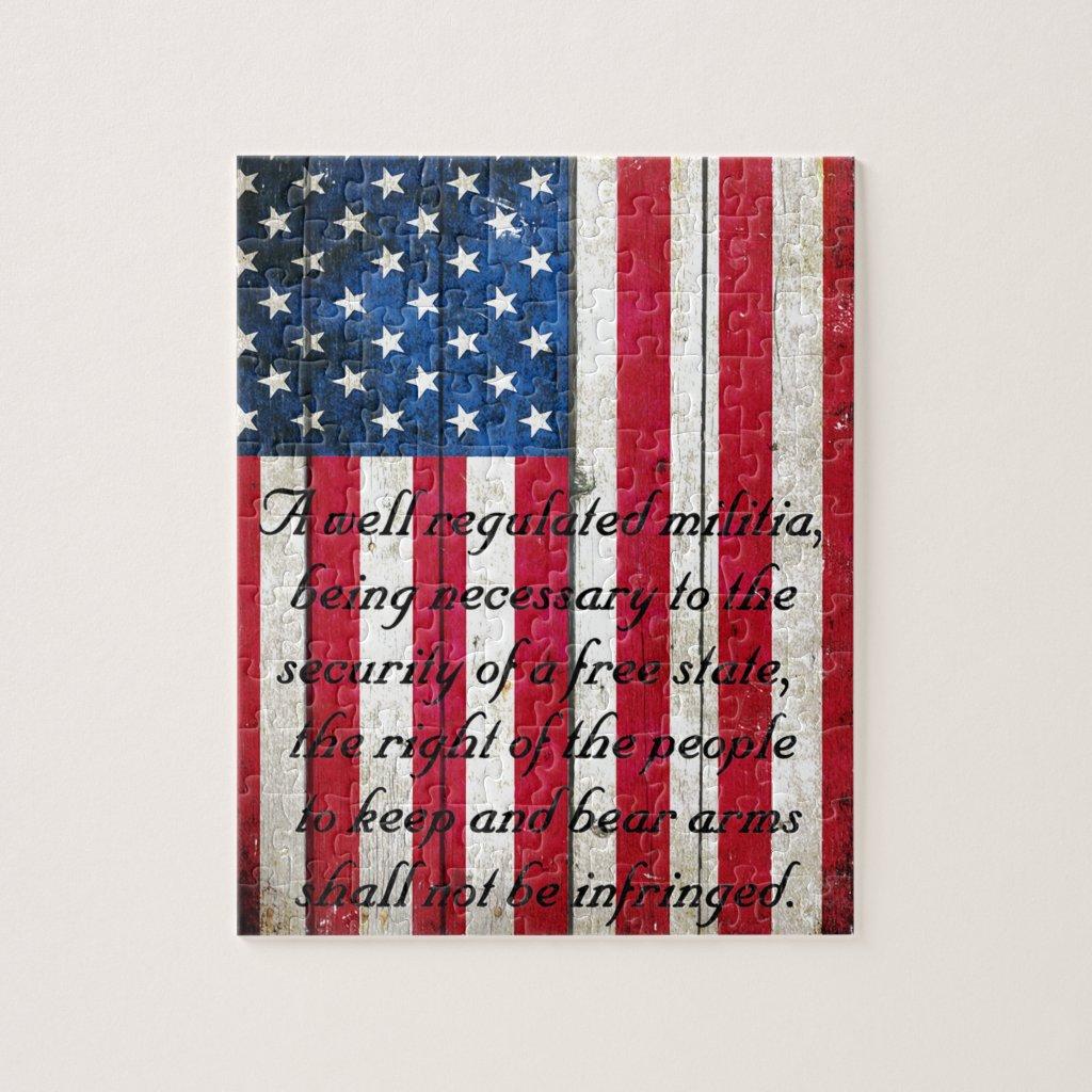 American Flag & 2nd Amendment Jigsaw Puzzle