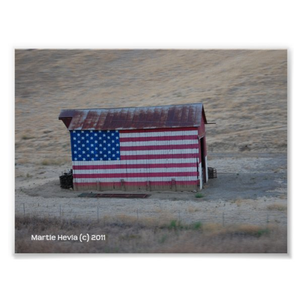 American Flag Barn by Martie Hevia - Photo Print print