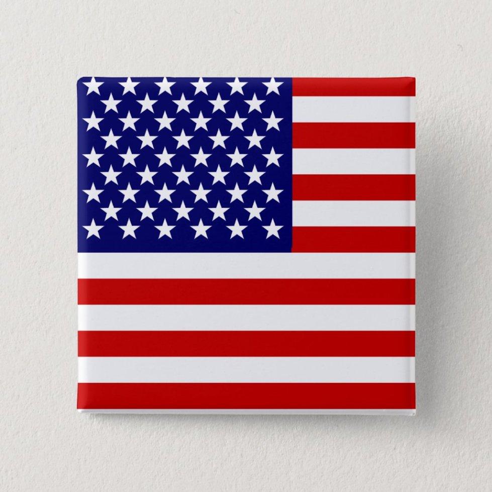 American flag pinback button