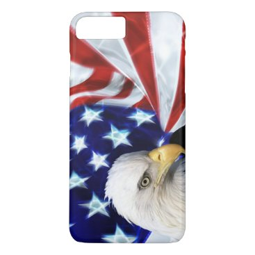 American Flag with Bald Eagle Patriotism iPhone 8 Plus/7 Plus Case
