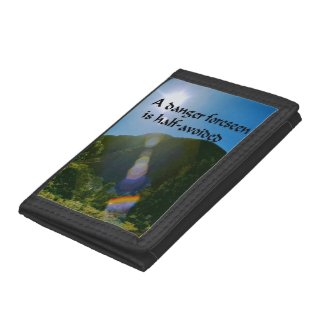 An ancient Ameridan Indian Proverb Tri-fold Wallets