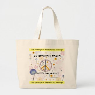 'An Imperfect Peace' - Canvas Bag - Customize bag