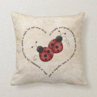 An Invisible Red Thread Throw Pillow