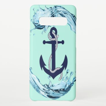 Anchor And Wave Samsung Galaxy S10  Case