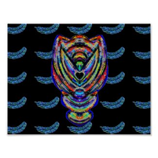 Angel Feather Pattern Art Poster