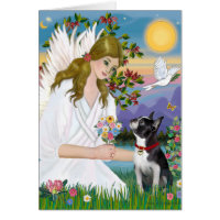 Angel Love (card) - Boston Terrier 3 Card