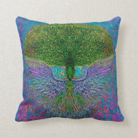 Angelic Tree of Life Throw Pillow