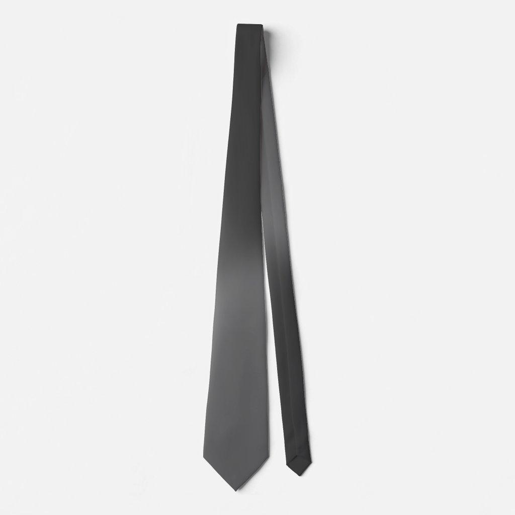 Angle Gradient NOIR Slate Gray Neck Tie
