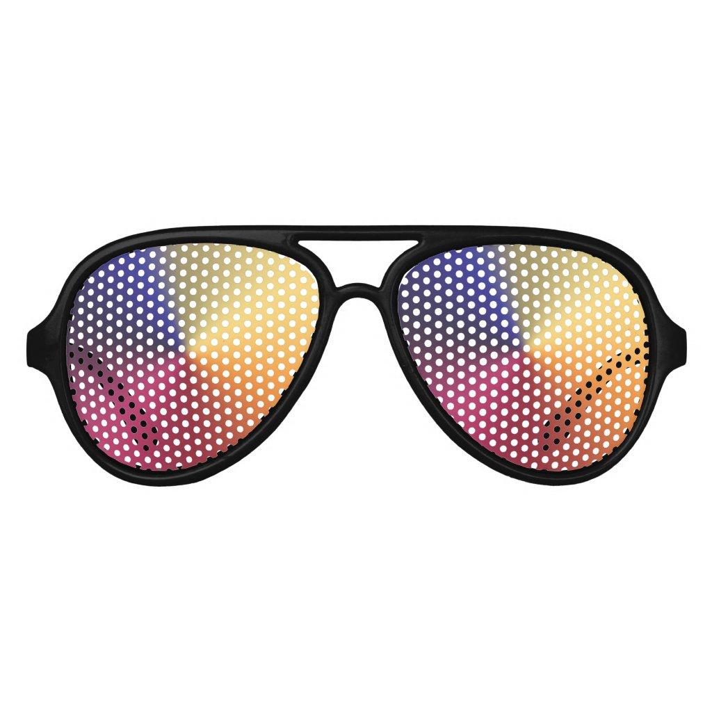Angle Radiant Gradient Aviator Sunglasses