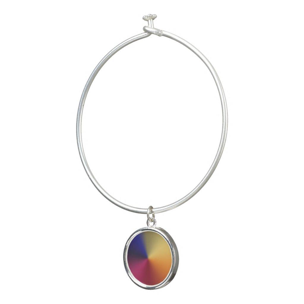 Angle Radiant Gradient Bangle Bracelet