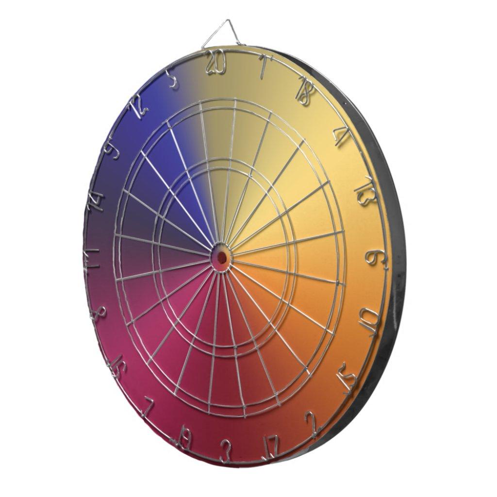 Angle Radiant Gradient Dart Board