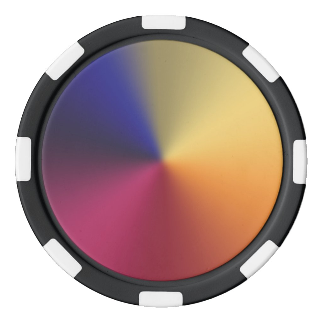 Angle Radiant Gradient Poker Chips