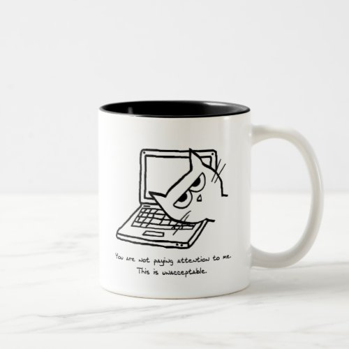 Angry Cat Demands Attention - Funny Cat Mug