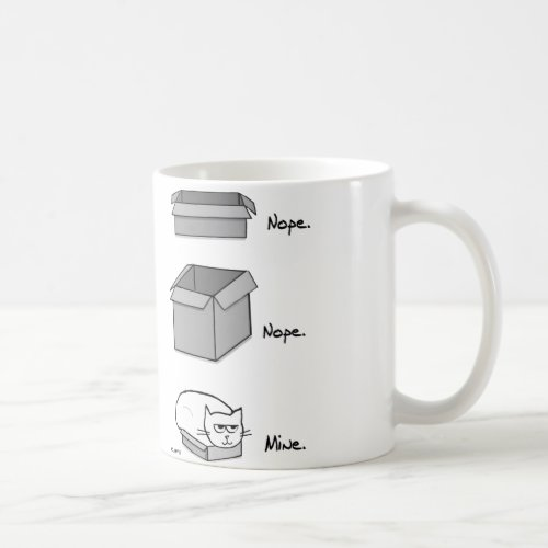 Angry Cat Totally Fits in this Box - Funny Cat Mug