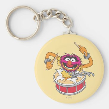 Animal Crashing Through Drums Keychain