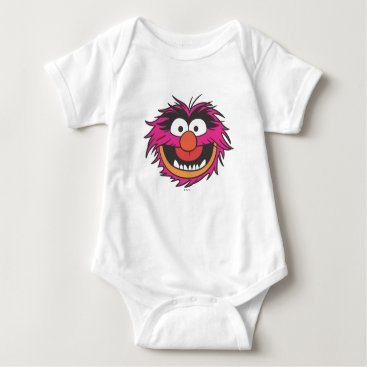 Animal Head Baby Bodysuit
