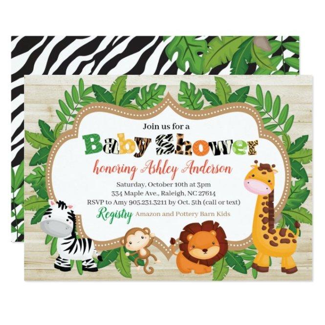 Animal Safari Jungle Baby Shower