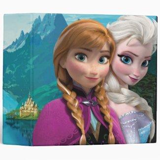 Anna and Elsa 3 Ring Binder