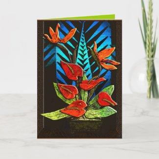 Anthurium (A Christmas Hannukkah Kwanzaa Card)