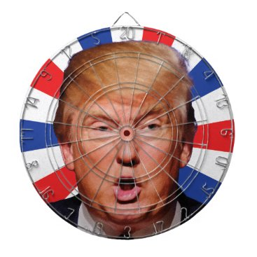 Anti President Donald Trump - Big Mouth Dartboard With Darts