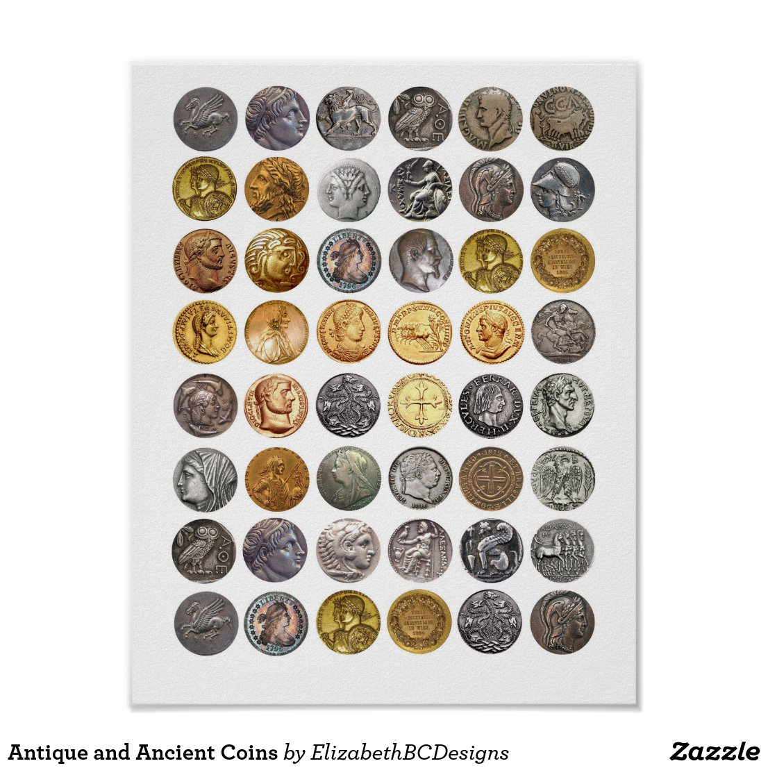 Antique and Ancient Coins Poster