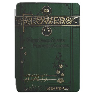Antique Flowers Book Cover In Green