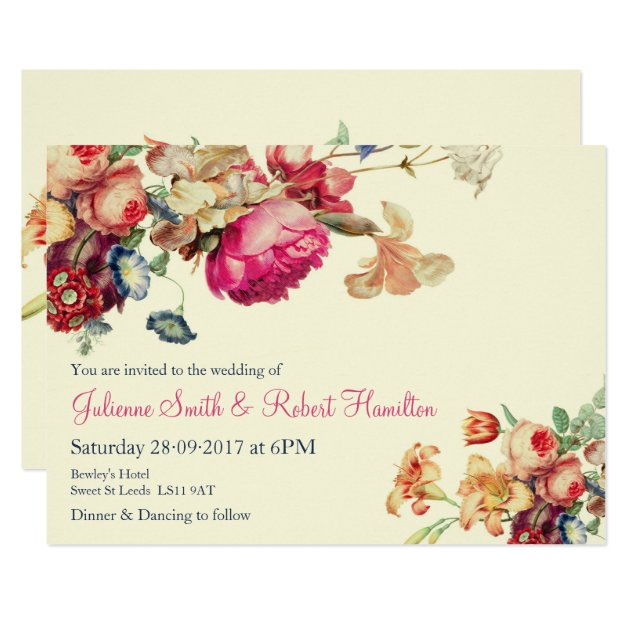Antique Garden Vintage Wedding Invitations