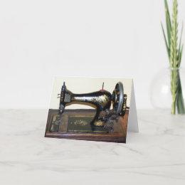 Antique Sewing Machine Notecard