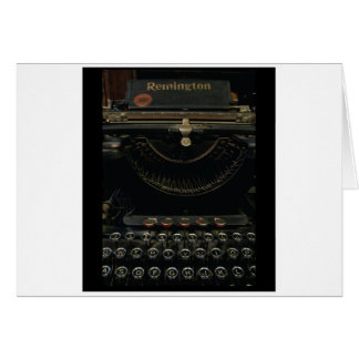 Antique Typewriter Greeting Card