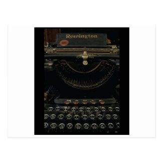 Antique Typewriter Post Card