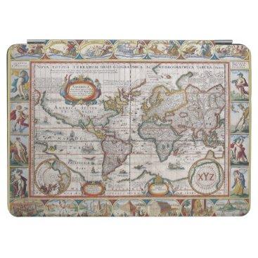 Antique World Map custom monogram covers