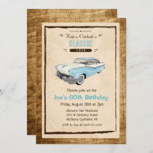 vintage car birthday invitations zazzle