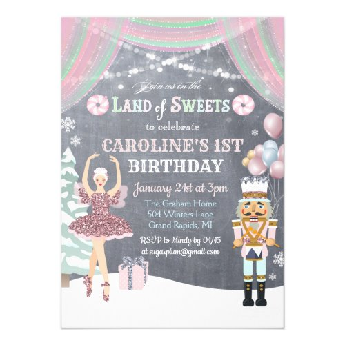 ANY AGE - Nutcracker Sugar Plum Birthday Invite
