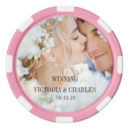 Any Custom Color Wedding Favors Poker Chip Set