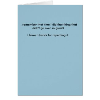Apology Note Card - Short