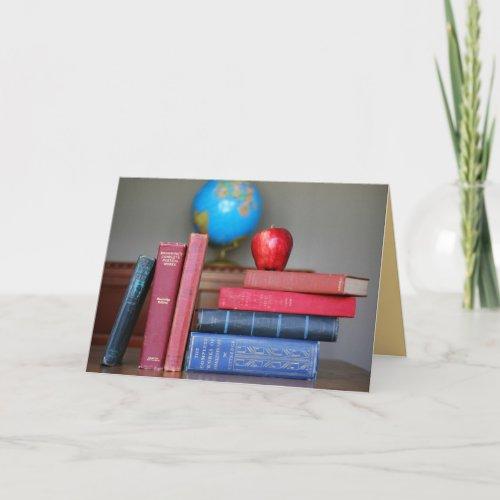 Apple for the Teacher Card card