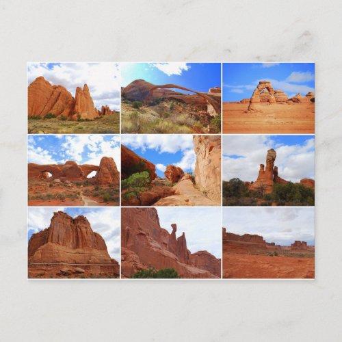 Arches National Park, Utah, Collage, Postcard postcard