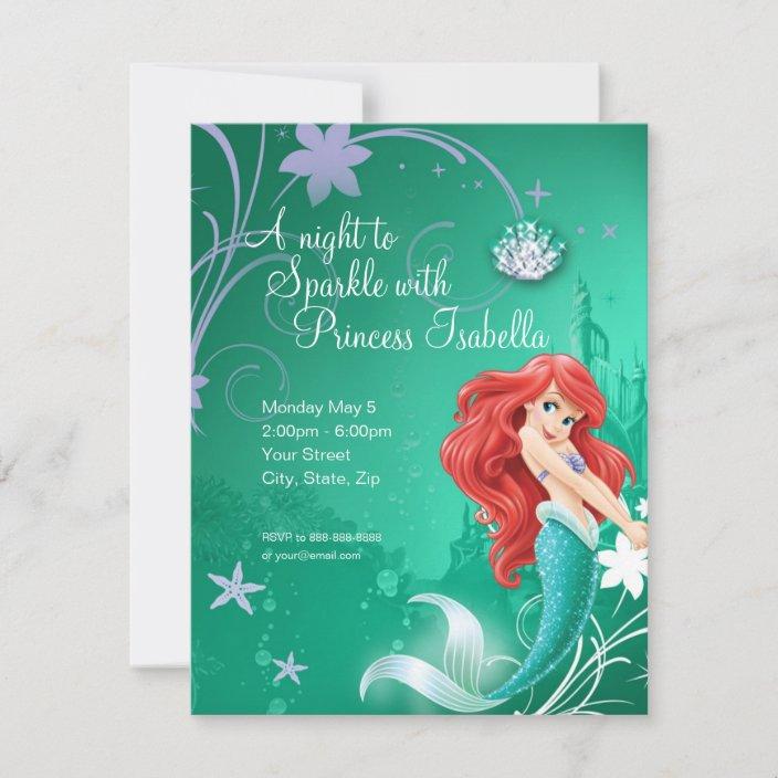ariel the little mermaid birthday invitation zazzle com