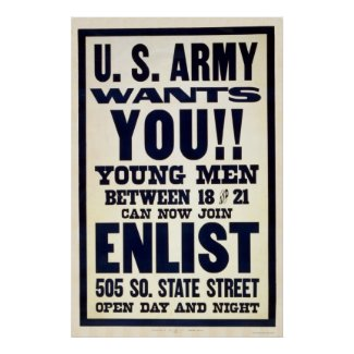 Army wants you!! print