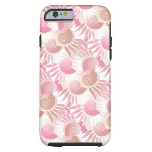 Art Deco Pink Sea Shells Tough iPhone 6 Case