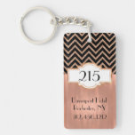 Art Deco Rose Gold Hotel Keychain