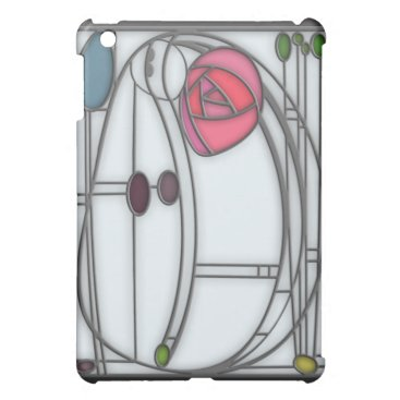 Art Nouveau Roses Design in Stained Glass Effect Cover For The iPad Mini