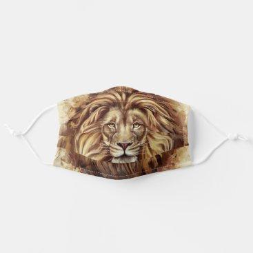 Artistic Lion Face Cloth Face Mask