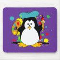 Artistic Penguin mousepad