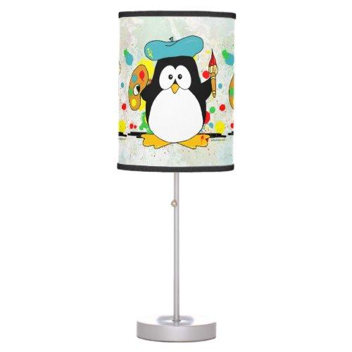Artistic Penguin Table Lamp