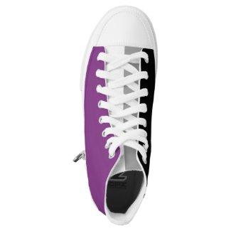 Asexual Pride LGBT Printed Shoes