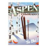 Aspen Colorado vintage style ski poster